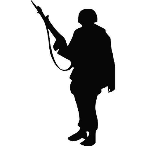 Soldier Silhouette Clip art  Soldier png download  500