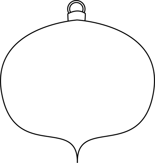 Black and White Christmas Ornament Clip Art  Black and