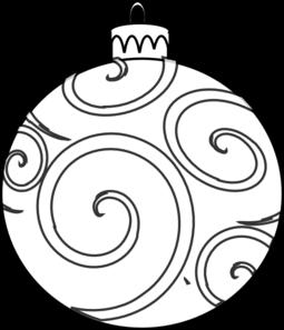 Swirl Ornament Outline Clip Art at Clkercom  vector clip