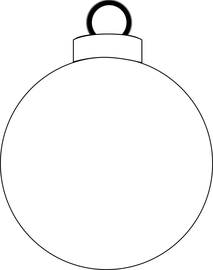 Christmas Ornament Clipart Black And White  Free download