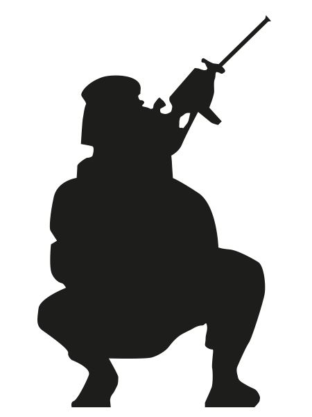 Silhouette Soldier Clip art Character Fiction - silhouette ... - Women Soldier Silhouette