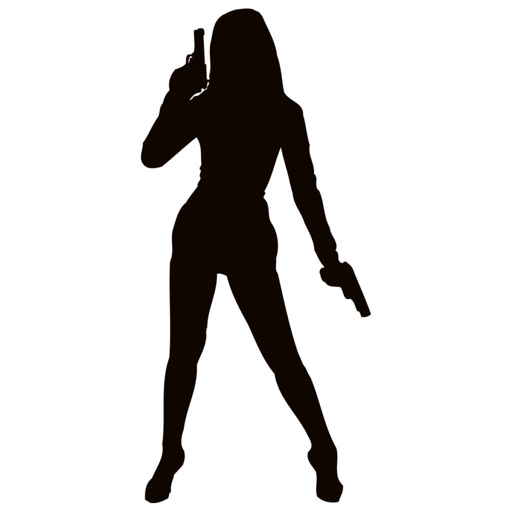 Firearm Woman Weapon Silhouette Clip art  Silhouette png
