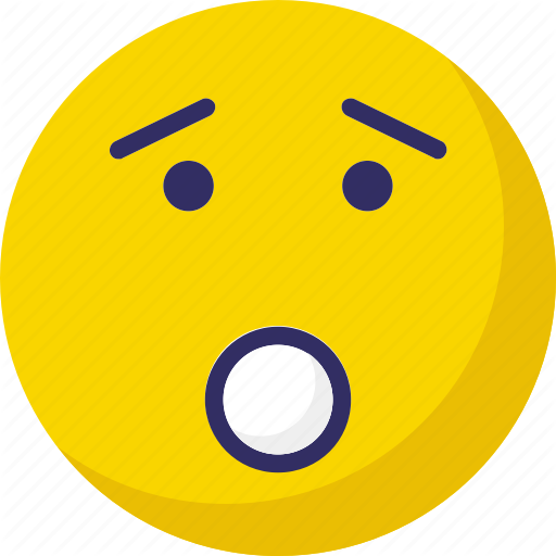 Emoticons face smiley smiley worried icon