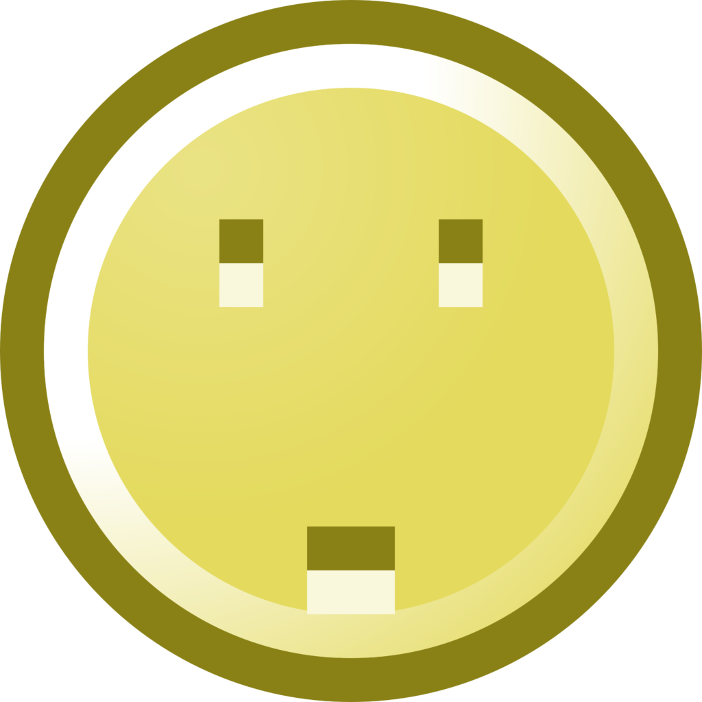 Free Worried Smiley Face Clip Art Illustration