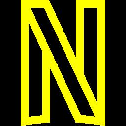 Yellow netflix icon  Free yellow site logo icons