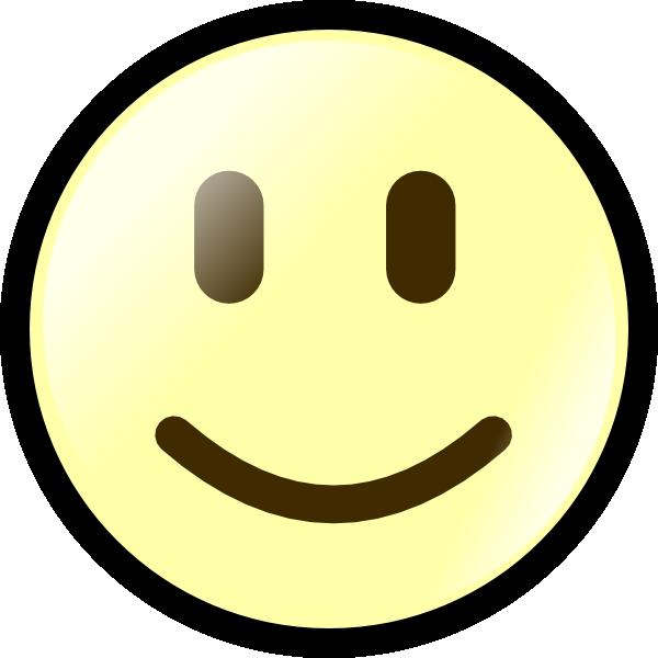 Yellow Happy Face Clip Art at Clkercom  vector clip art