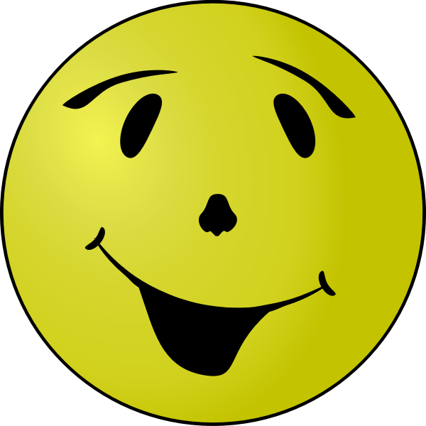 Vector clip art of grinning yellow smiley  Free SVG