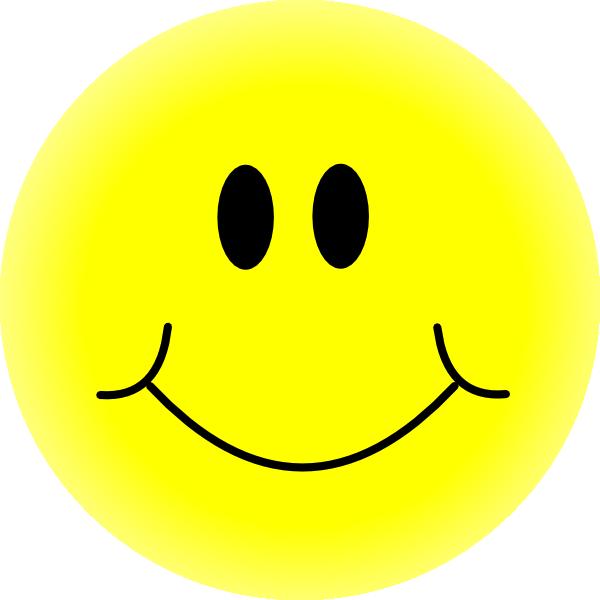 Yellow Smiley Face Clip Art at Clkercom  vector clip art
