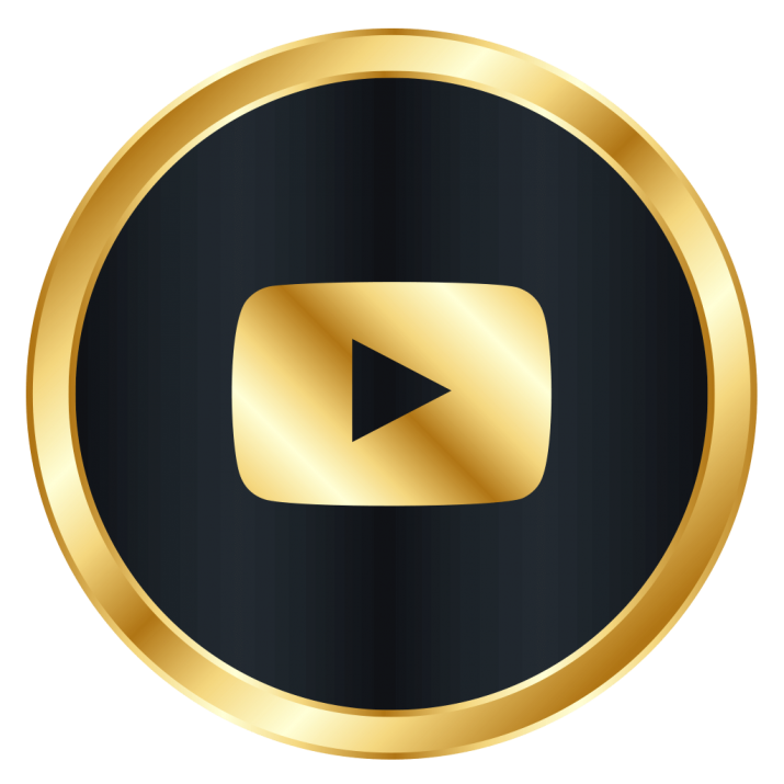 Download Youtube Gold Play Button Png  PNG  GIF BASE