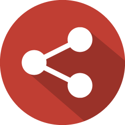 Share 2 Icon  100 Flat Iconset  GraphicLoads