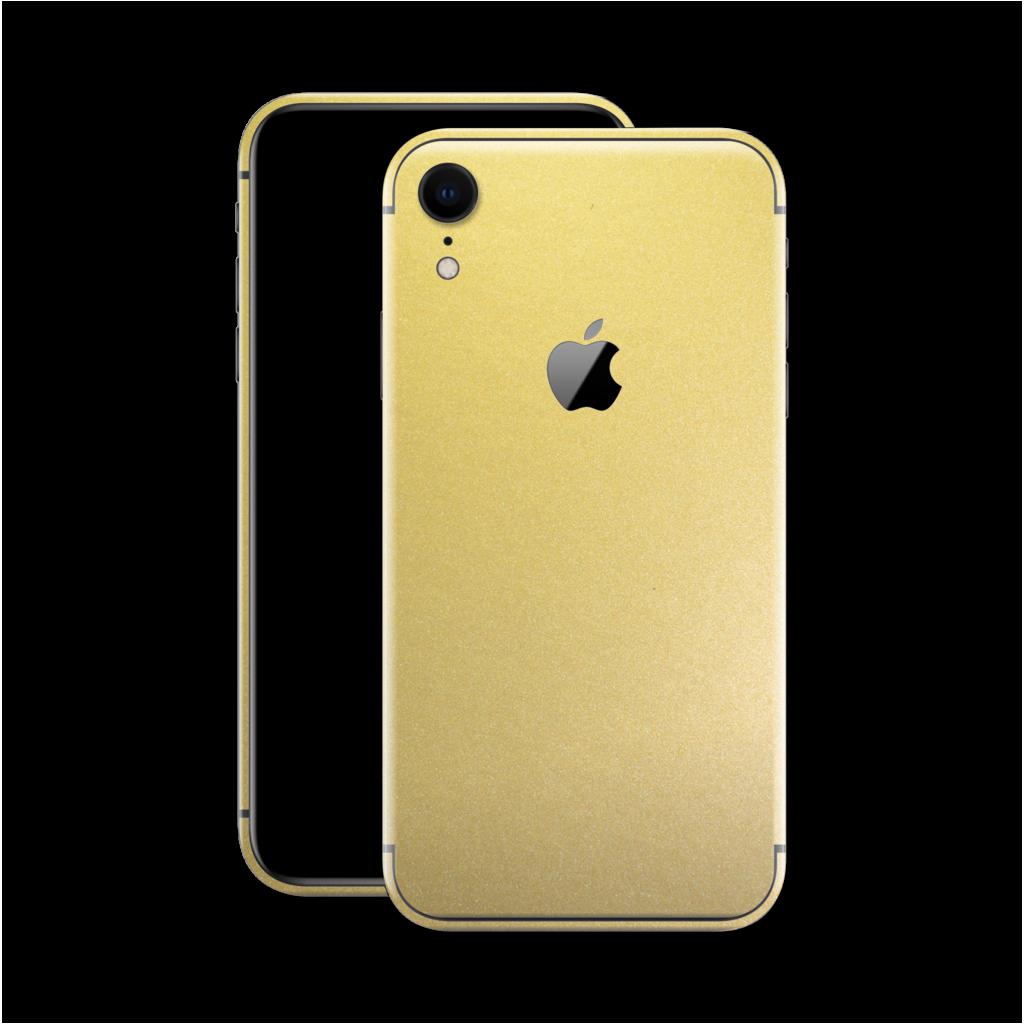 iPhone XR GOLD MATT Metallic Skin  Iphone Metal Skin
