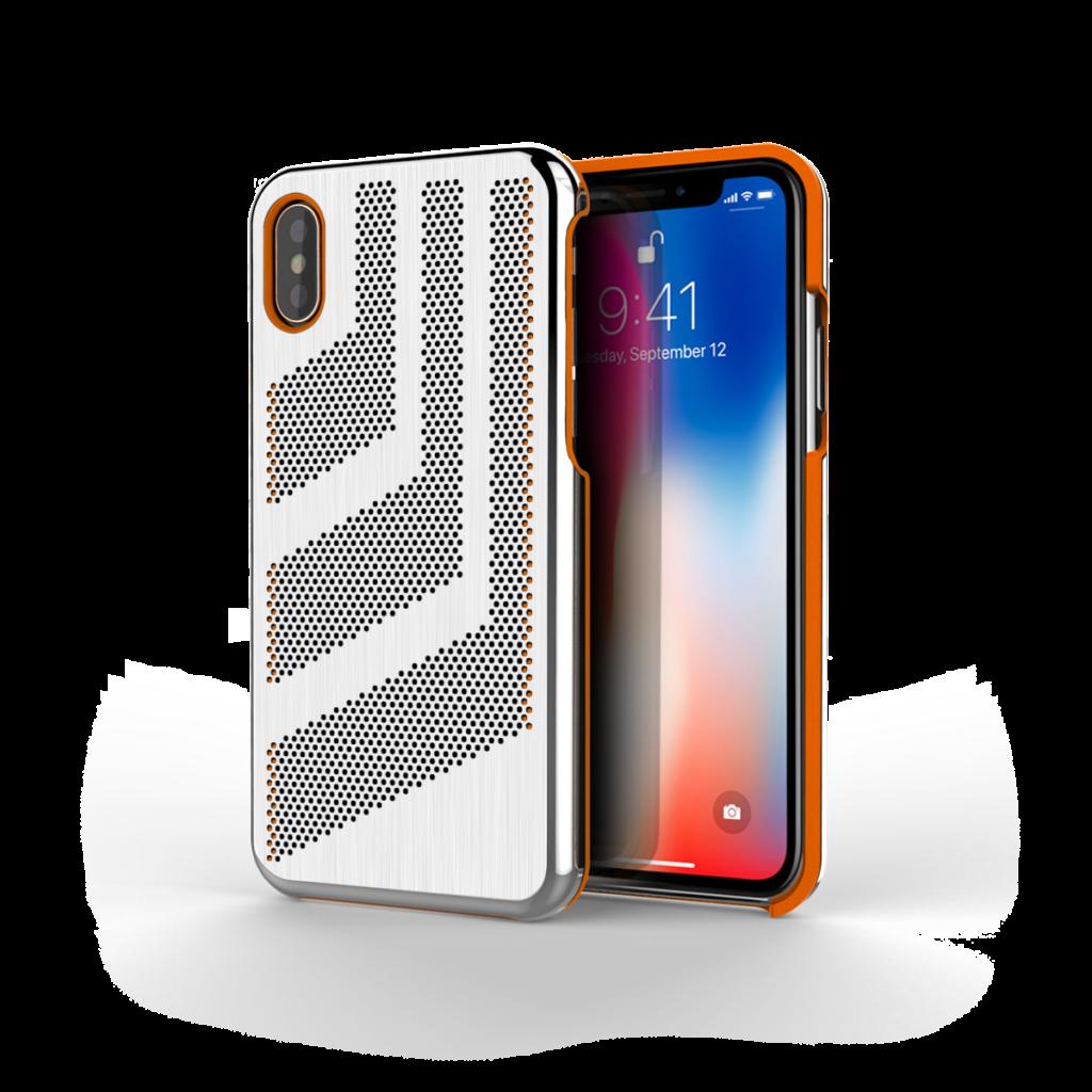 Intense GTS for iPhone X Brushed Steel  Orange Trim