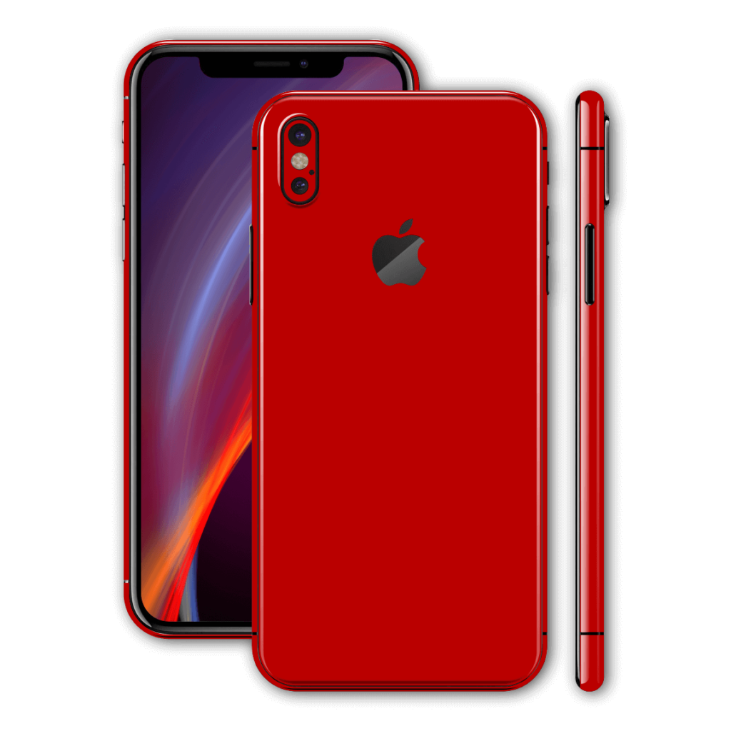 iPhone X GLOSSY Deep RED Skin  Wrap  Decal  EasySkinz